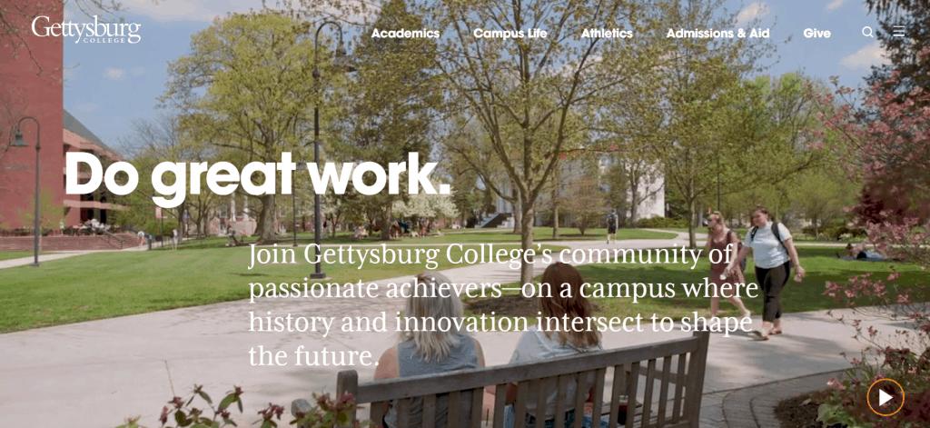 University website branding