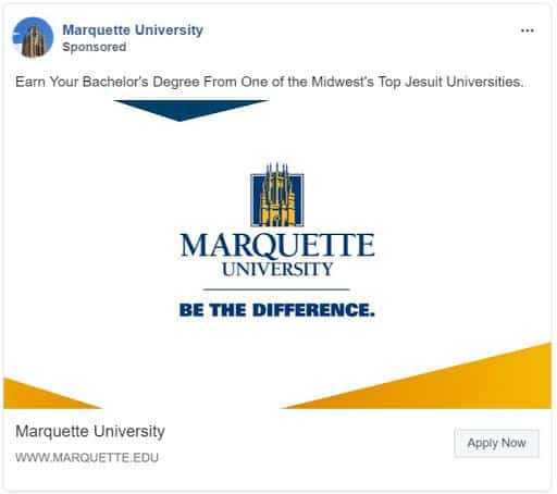 facebook marketing for higher education