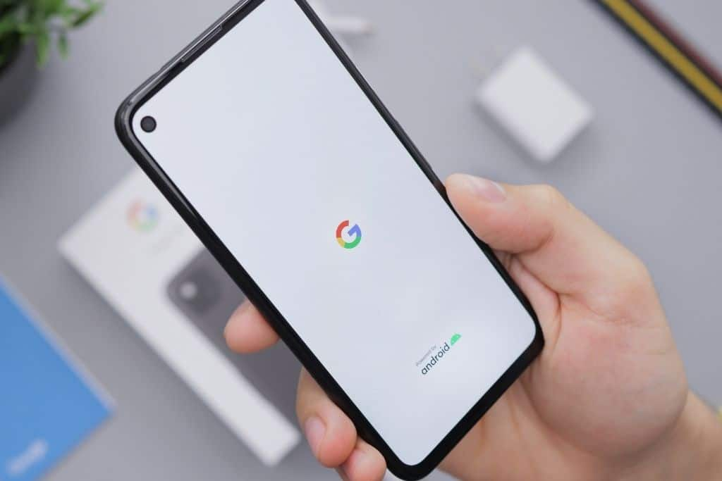A google screen on a smartphone