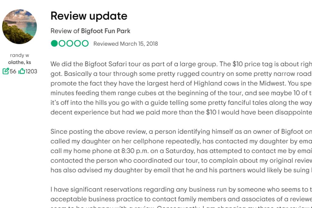 TripAdvisor theme park review